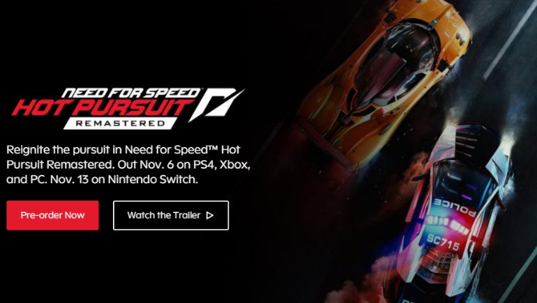EA, Need for Speed Hot Pursuit Remastered Oyununu Duyurdu!